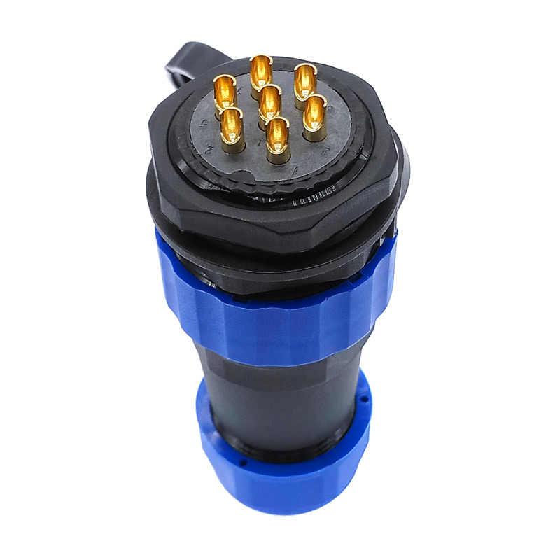 Conector recto SP28 a prueba de agua de 2 pines 3/4/5/6/7/9/10/12/14/16/19/22/24/26 Pines, conector roscado IP68