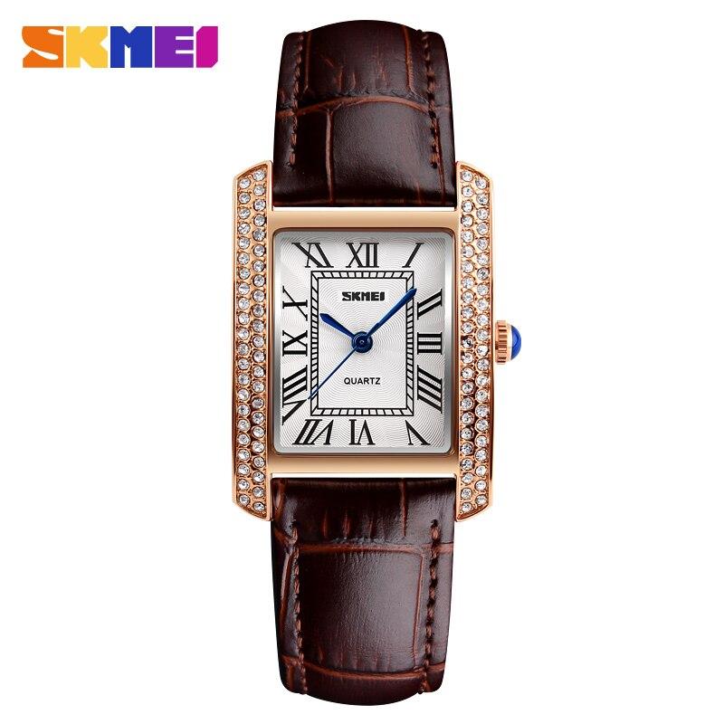 2cbb5a485 SKMEI Značka Ženy Luxusní hodinky Módní příležitostné křemenné ...