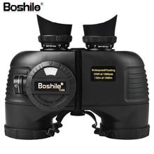 Boshile prismáticos militares telescopio HD 7X50, binoculares impermeables de alta calidad con telémetro y Brújula de azimut