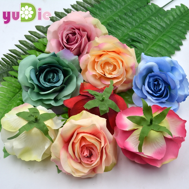 20pcslot 9cm handmade silk rose flowers head diy craft supplies 20pcslot 9cm handmade silk rose flowers head diy craft supplies artificial fake flower supplies wedding decoration flower rose mightylinksfo
