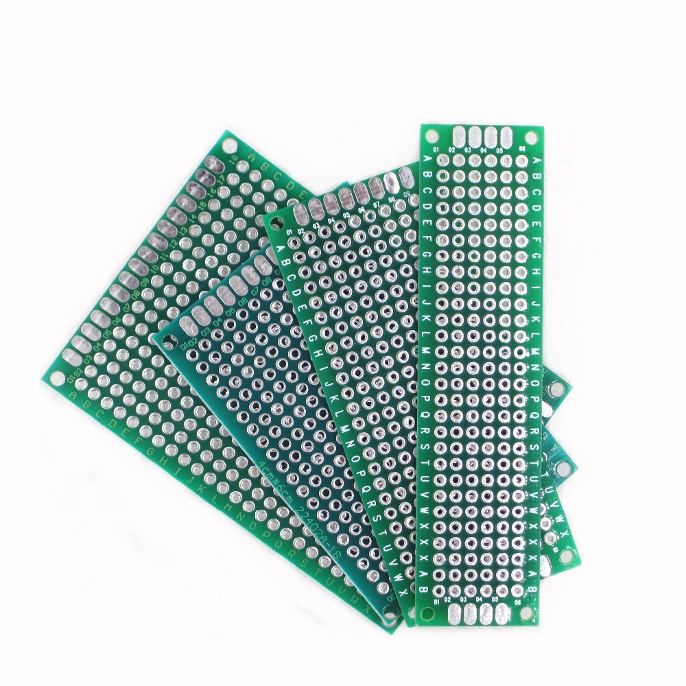 HAILANGNIAO 4pcs 5x7 4x6 3x7 2x8 Cm Double Side Copper Prototype Pcb Universal Board