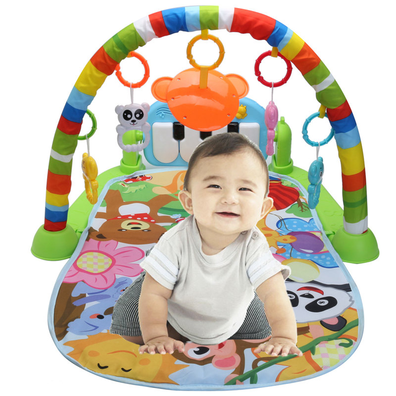 3 en 1 Pour L'éducation Rack Jouets Clavier Infantile Remise En Forme Tapis Bébé Musique Tapis de Jeu Cadeau Pour Enfants