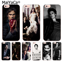 MaiYaCa Ian Somerhalder In The Vampire Diaries soft Phone Cases for iPhone 8 7 6 6S Plus X 10 5 5S SE 5C 4 4S Coque Shell