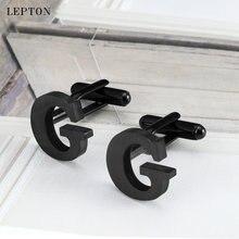 Запонки lepton из нержавеющей стали для мужчин s ip черные металлические