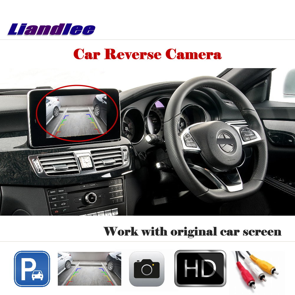 Liandlee For Mercedes Benz CLS W209 CLS 300 320 350 500 / Auto Back Up Cam Reverse Parking Camera Work with Car Factory Screen