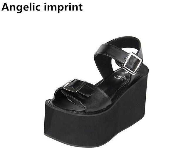 Lolita Chica Punk Zapatos Lady Angelical Estampado Super Mujer Mori qPwWUfO