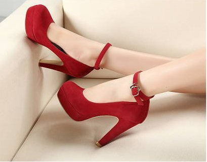 2018 woman Pumps autumn thick heel shoes ol high-heeled shoes female the trend of ultra high heels female shoes 6