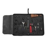 10 Pcs Garden Bonsai Tool Set Carbon Steel Kit Cutter Scissors with Nylon Case @8 WWO66