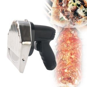 Image 1 - Лидер продаж Беспроводной слайсер для кебаба с Батарея шаурма Донер Ножи Турция Электрический Гироскопы Разделки мяса Еда машина 110V 220V