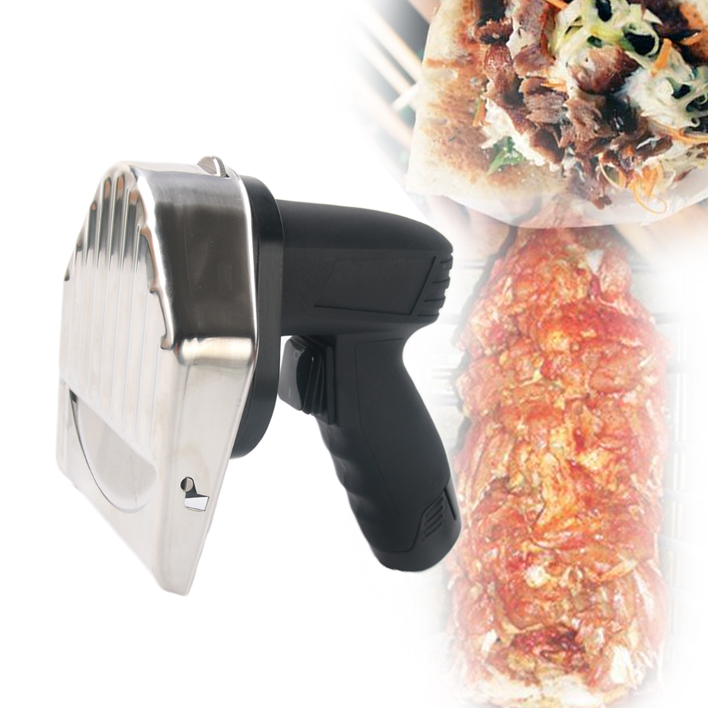 Hot sales Wireless Kebab Slicer with Battery Shawarma Doner Knife Turkey Electric Gyros Cutting Meat Food Machine 110V-220V