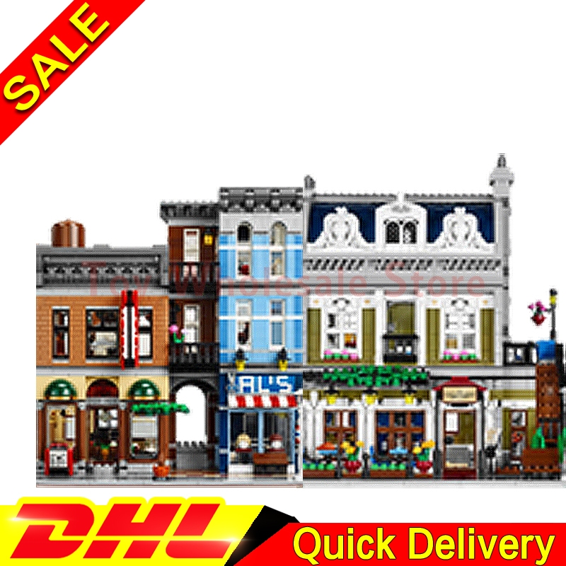 Lepin 15011 Detective's Office + Lepin 15010 Parisian Restaurant Model Building Street Sight Blocks Bricks Toy 10197 10243 a toy a dream lepin 15008 2462pcs city street creator green grocer model building kits blocks bricks compatible 10185