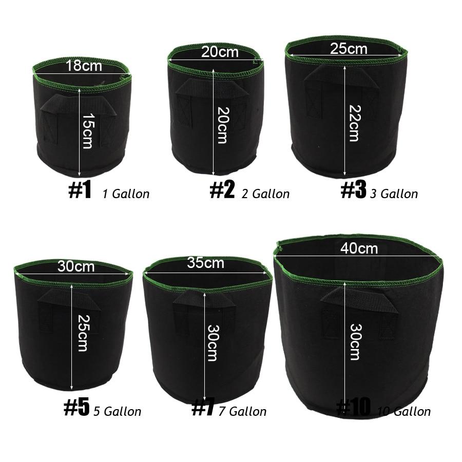 10 Gallon Hydroponic Root Fabric Pot