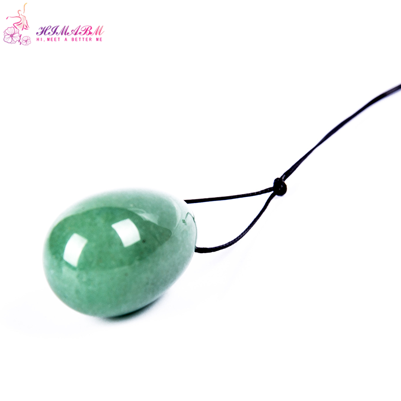 HIMABM 30*20mm Natural Green Aventurinejade egg for kegel exercise pelvic floor muscles vaginal exercise yoni egg ben wa ball