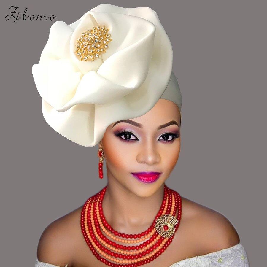 Turban headtie african turban cap aso oke gele ready to wear auto hele african lace auto gele aso ebi headtie 2018 new (9)