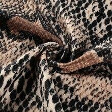Snake Skin Print long Sleeve dress 2018 Autumn Spring women sexy Bodycon snakeskin high neck party mini Short dresses for Female