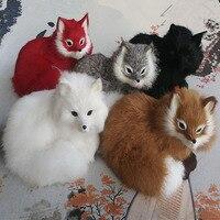 16x11 5x13cm Cute Simulation White Fox Toy Polyethylene Fur Beautiful Fox Doll Gift