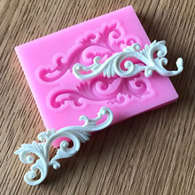 Newest DIY Sugar craft Cake Vintage Relief Border Silicone Mold Fondant Mold Cake decorating Tools Gum paste Mold(China)