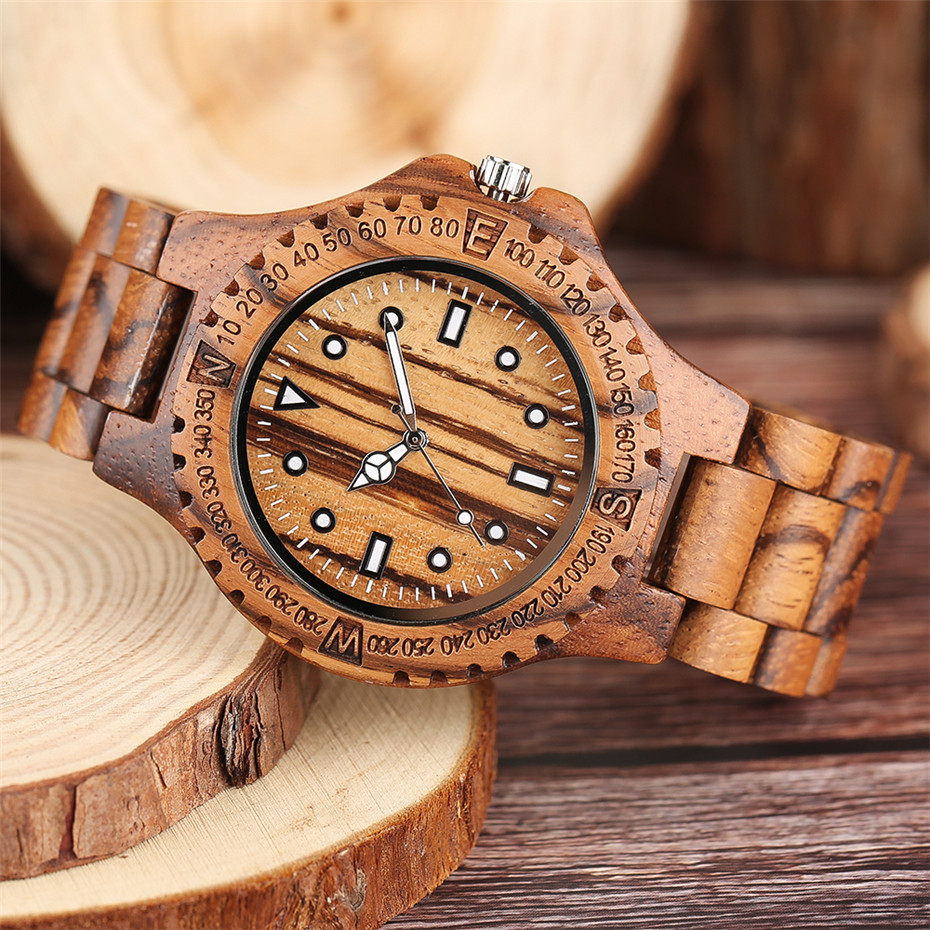 YISUYA Luxury Full Wooden Watch Men Fashion Simple Zebra Wood Analog Creative Watches Modern Casual Men's Clock Gift 2017 New  (2)