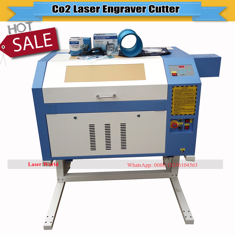 110/220V 60W 400*600mm Mini CO2 <font><b>Laser</b></font> Engraver Engraving Cutting Machine <font><b>4060</b></font> <font><b>Laser</b></font> with USB Interface image