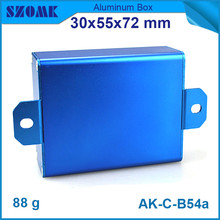szomk electrical aluminum amplifiers case (10pcs) free shipping blue junction box 30*55*72mm