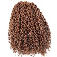 10pcs/lot 18inch Pervado Hair Goddess Locs Crochet Braids Synthetic Soft Braiding Hair Extension Brown Blond Pure Color 60g/pc