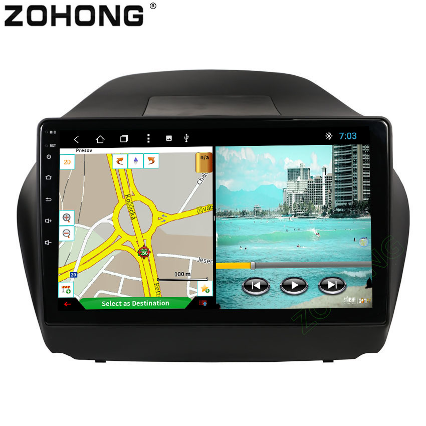 10 2inch 2 5D Android 8 1 Octa Core CAR DVD multimedia Player for Hyundai Tucson