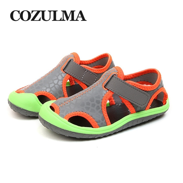 c1cc99f395c6f COZULMA Kids Sandals 2018 Summer Boys Girls Beach Shoes Roman Closed Toe  Sandals Designer Toddler Sandals For 3 - 15 Years Kids