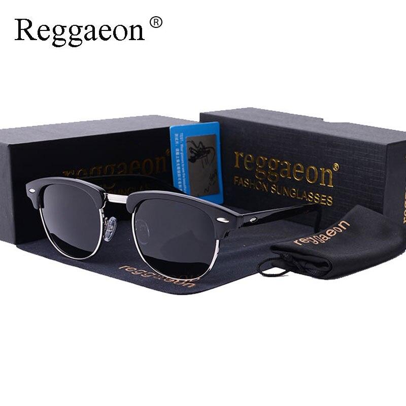 Reggaeon marca de lujo cristal piloto aviador gafas de sol mujeres ...