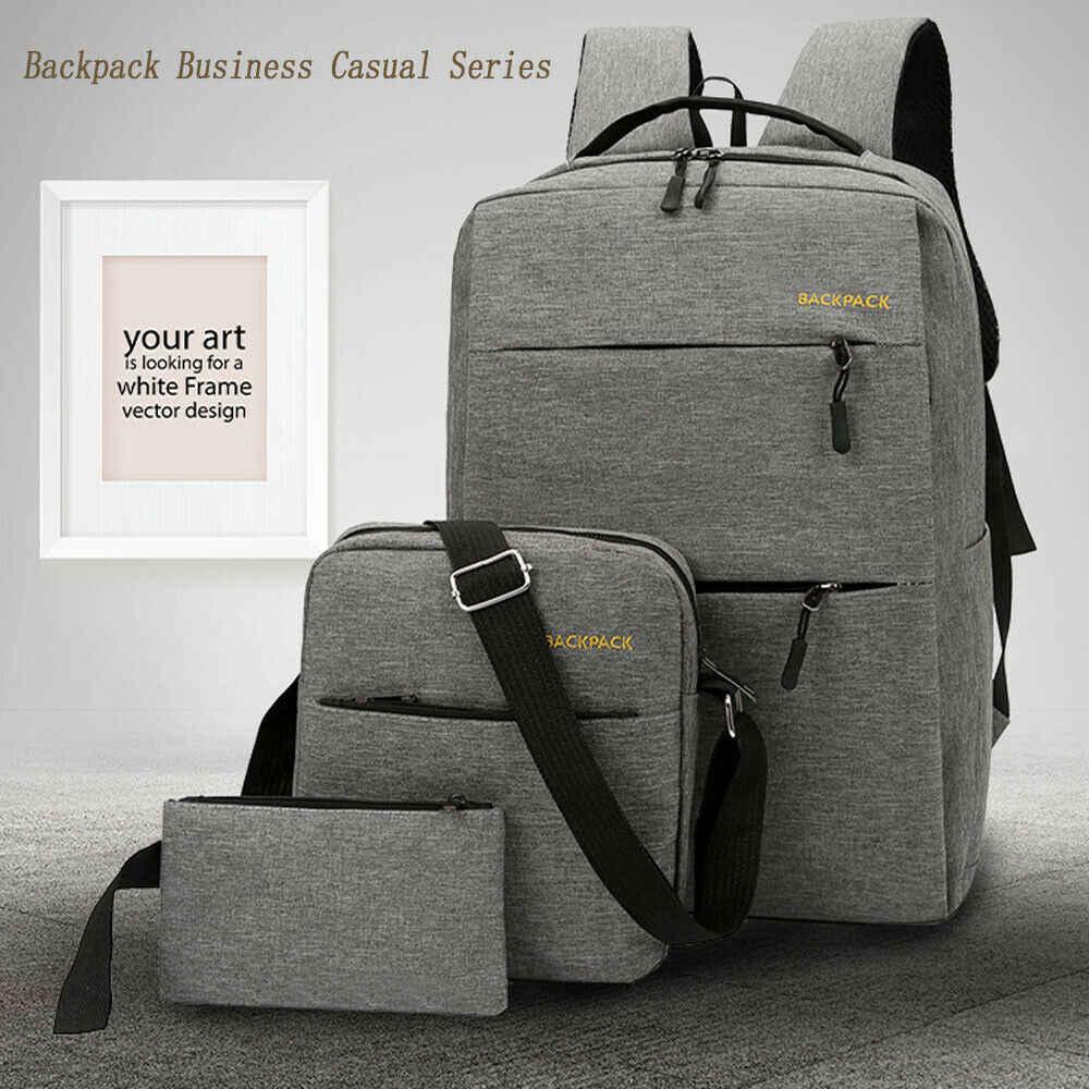 2019 новейший горячий Противоугонный рюкзак USB порт водоотталкивающий зарядный дорожный рюкзак для ноутбука большой емкости 3 шт набор