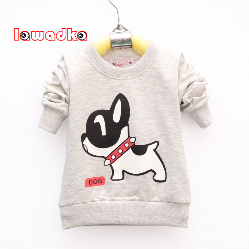 Lawadka Band Sport Baby Boys T-shirt Dog Pattern Long Sleeve T Shirts for boys Cotton Children Clothes