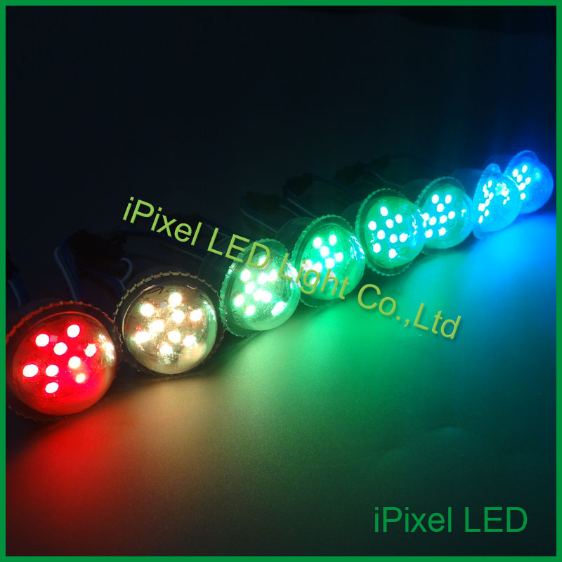 Outdoor digital 3pcs smd5050 26mm rgb programmable pixel leds for ferris wheel ...