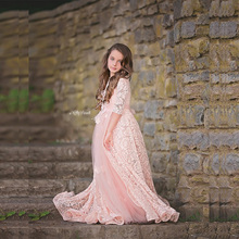 2017 Beauty Pink Junior Girls Formal Dresses For Party Weddings Lace Half  Sleeves Floor Length Pageant 0b6b24f5be8a