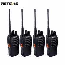 4 pcs Professionnel Talkie Walkie Retevis H777 UHF 400-470 MHz 3 W Portable Ham Radio Hf Émetteur-Récepteur 2 Way Radio Communicateur H-777