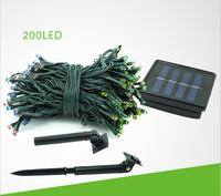 Green Blue Warm White Multicolor 22M 200 LED Solar Lights String Fairy Outdoor Garden Waterproof Christmas