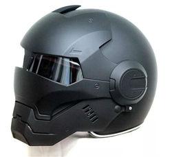 2016 Top hot Black MASEI IRONMAN Iron Man helm motorhelm half helm open helm casque motocross 610 SIZE: M L XL