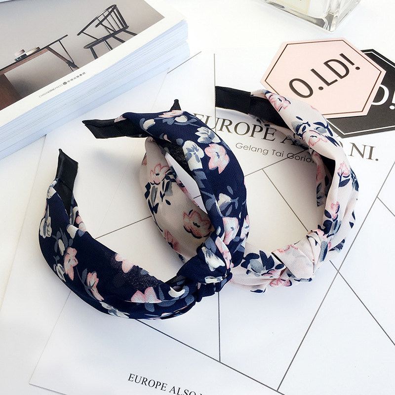 Floral Flower Headband Fabric Butterfly Bow Knot Head Band Rabbit Ears Headbands for Women Girls Hair Band Accessories in Women 39 s Hair Accessories from Apparel Accessories