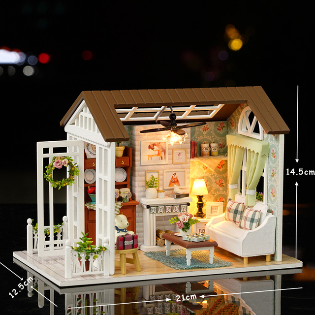 Rustic Style Miniature Wood Doll House