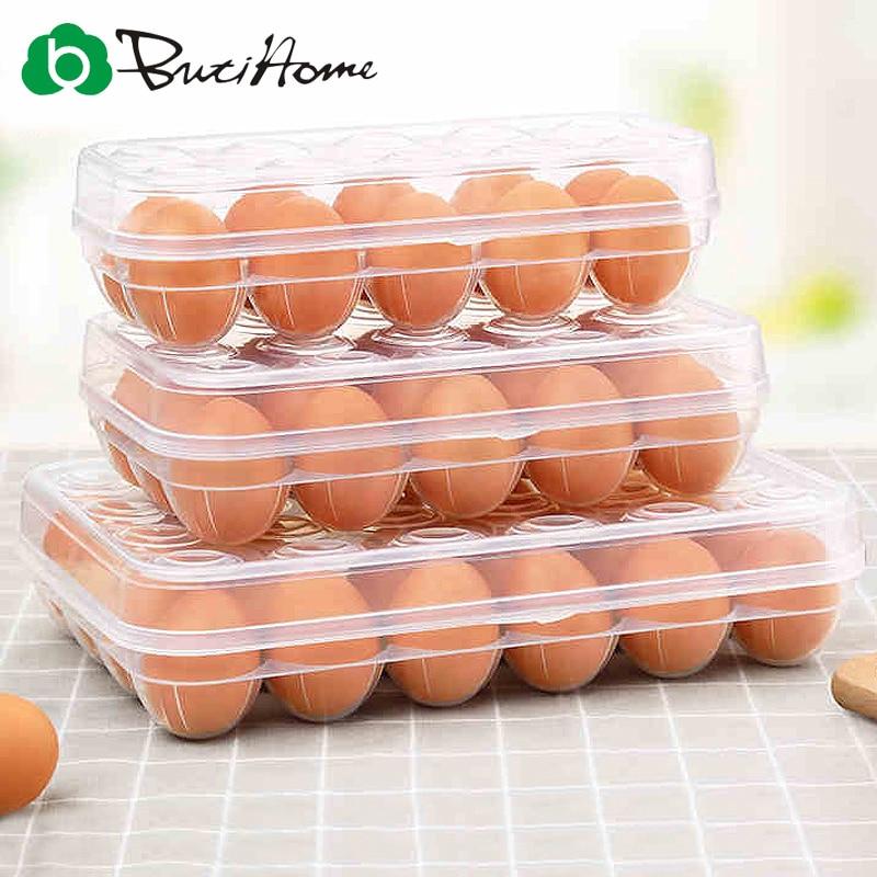 Butihome Kitchen Storage Transparent Fashion Egg Storage Box Refrigerator Fresh Egg Storage Box Kitchen Accessories
