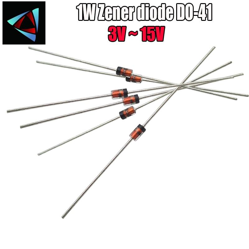 100pcs 3v3 Zener diode BZX55C3V3 3.3 volt 500mW DO35 ROHS