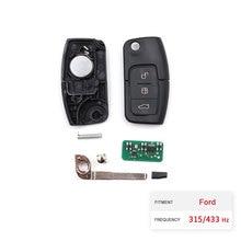 Dzanken 5 Buttons Remote Car Key 315/433MHZ For Ford Focus & Transponder Chip& Uncut Blade цена и фото