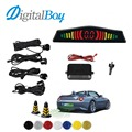 Digitalboy Auto Car Parking Sensor kit Buzzer Sound Alert Backup Radar Detector System Reverse with 4 Sensors Parking Assistance