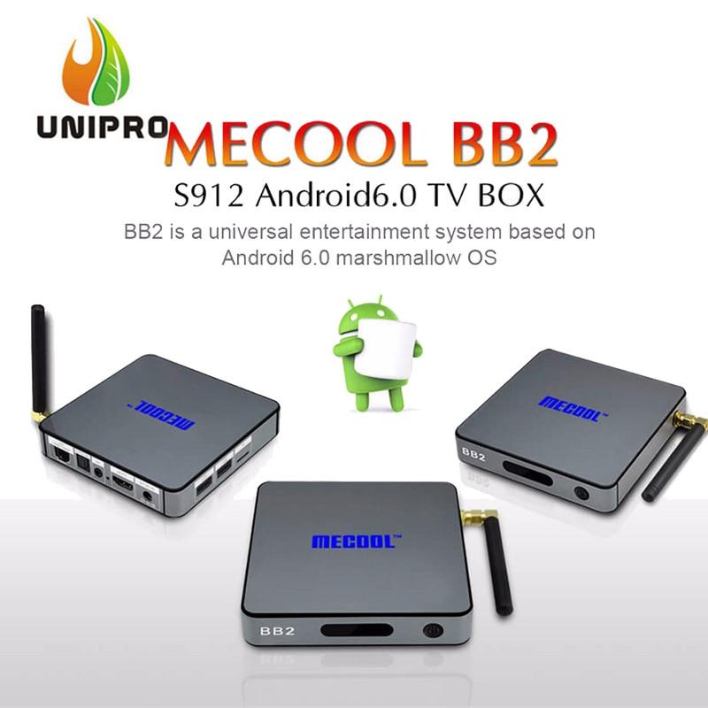 [In Stock!] MECOOL BB2 Android 6.0 Amlogic S912 KODI 17.0 TV BOX 2G/16