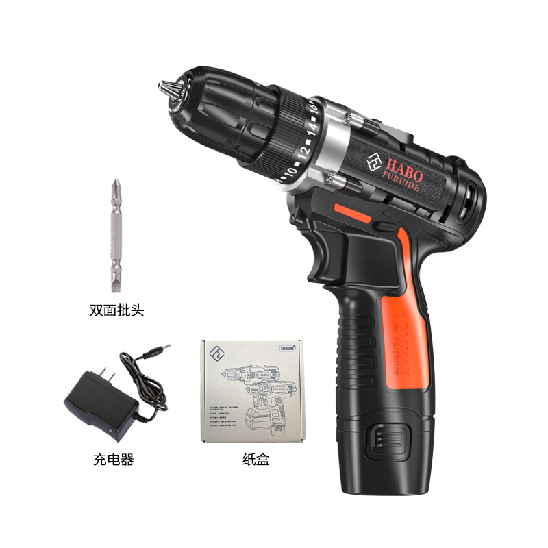 AC 100 - 240V Cordless 12V Max Electric Screwdriver Cordless Drill Mini Wireless Power Driver DC Lithium-Ion Battery image
