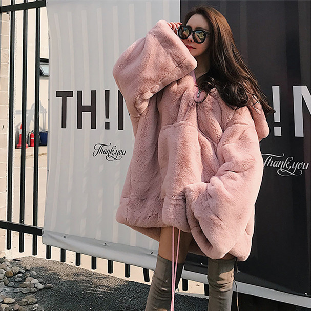 Fur Women 39 s Pullover 2018 Winter New Thick Warm Fur Sweater Long Paragraph Loose Korean Version Of The Plush Coat Shirt in Faux Fur from Women 39 s Clothing