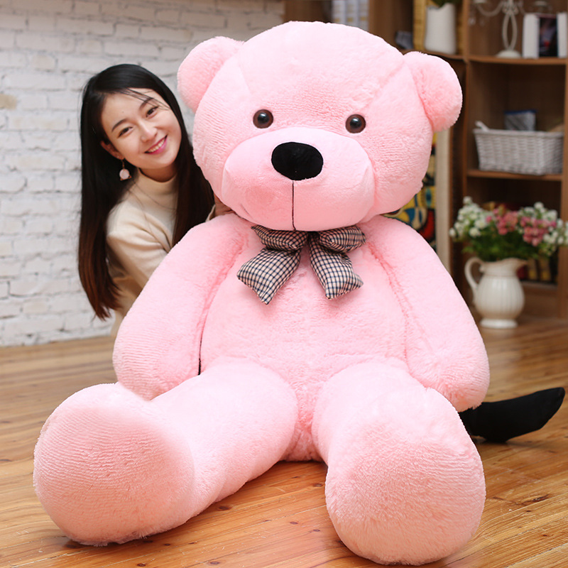 1PC 180cm Teddy Bear Plush Toys Soft Outer Skin and Stuffed Animals Bear Coat Holiday Gift Birthday Gift Valentine Brinquedos 1pc 32cm cute teddy bear plush toy stuffed soft animal bear colorful dolls kids baby children birthday gift valentine s gift
