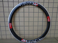 1Pcs New Red 700C 50mm Clincher Rims Road Bike 3K UD 12K Carbon Fibre Bicycle Wheelsets