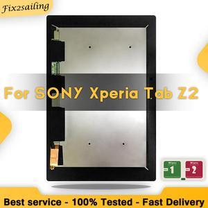 100% testado para sony xperia tablet z2 sgp511 sgp512 sgp521 sgp541 toque digitador da tela de vidro display lcd assembléia frete grátis