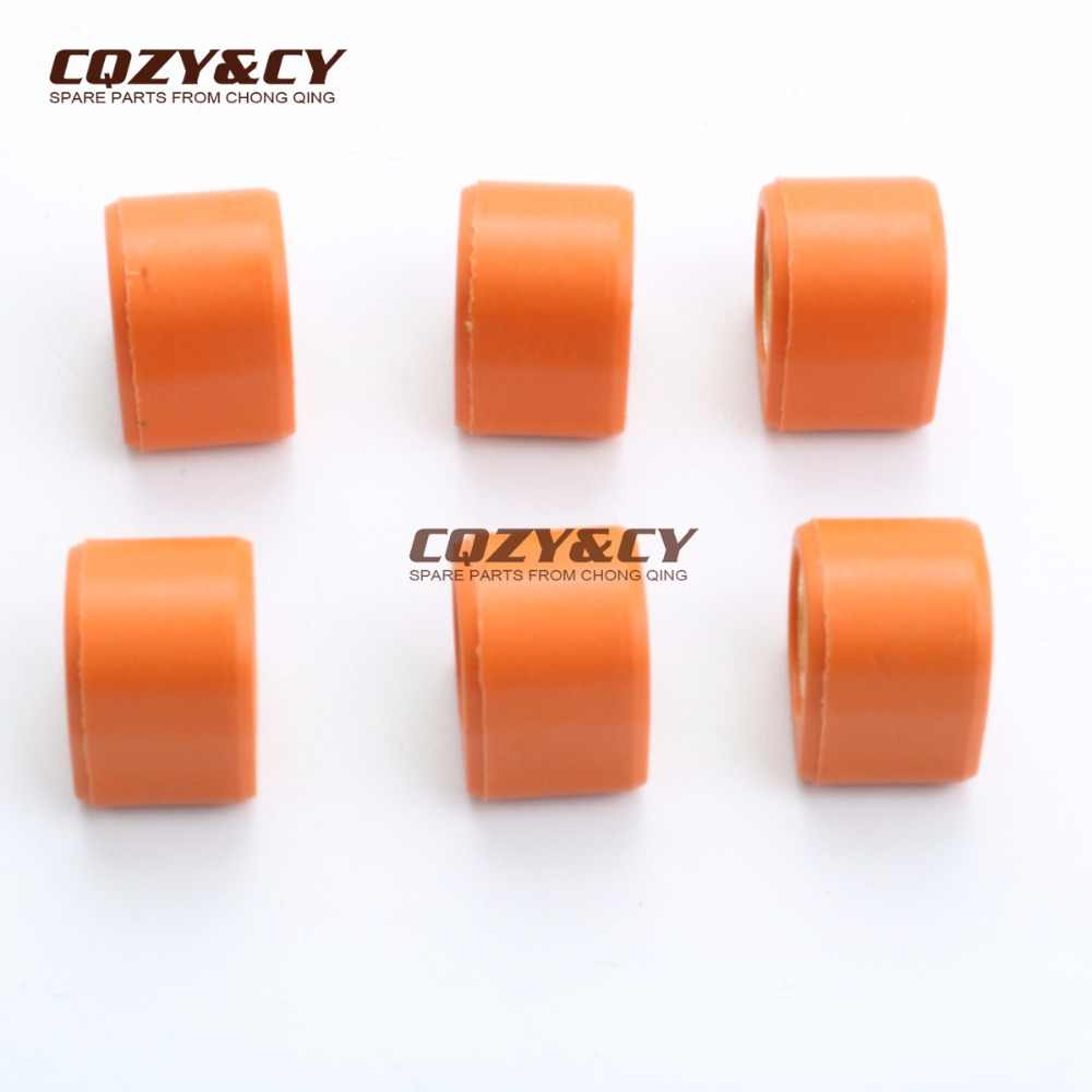 6PC Polygon Roller Set Sliders 16x13mm 5,5 gramm set für PIAGGIO Freies 50 Nrg 50 Rst mc2 Ntt Quarz Sfera Rst Zip Rst 50cc