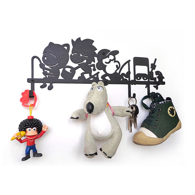 Fishing Creative Iron Key Hook Hanging Clothes Hanger Decorative Wall Hanging Decoration