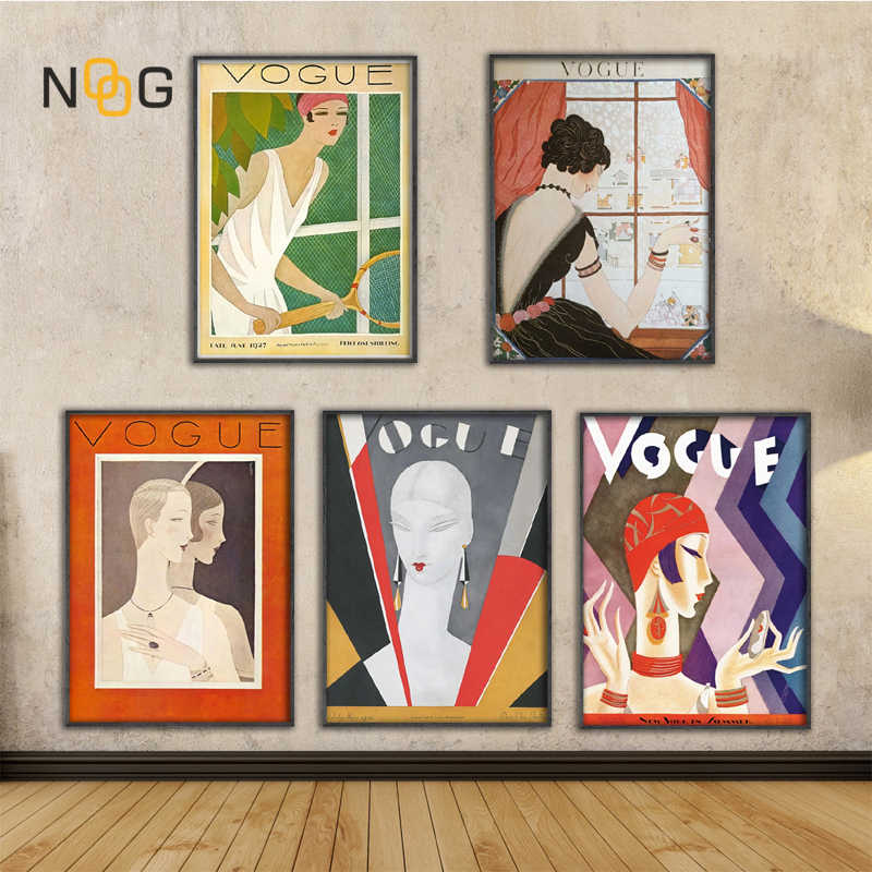 Vintage Cuadros Vogue Figure Quotes Posters and Prints Canvas Wall Pop Art Black and White Painting Nordic Decorative Picture